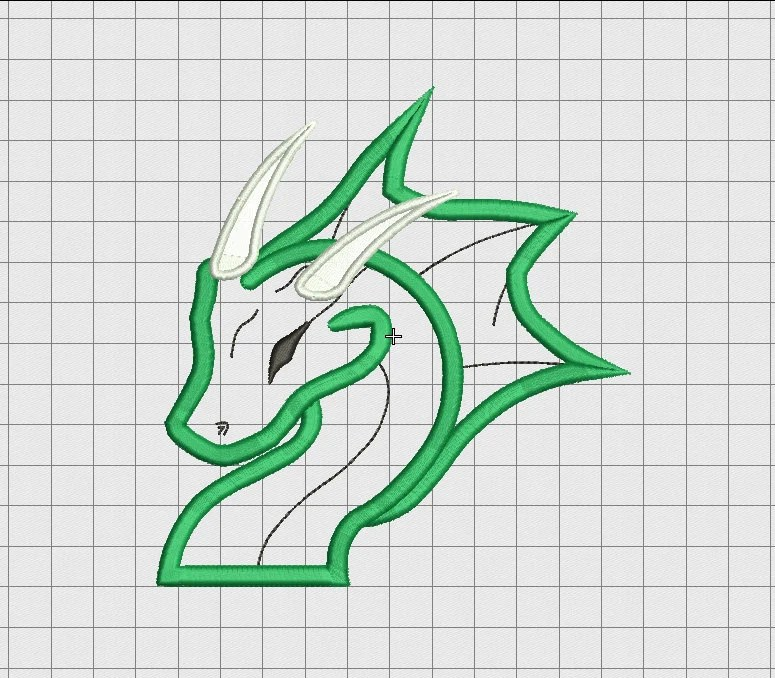 Dragon Head Applique Embroidery Design In 3X3 4X4 5X5 And 6X6 Ideas And Designs