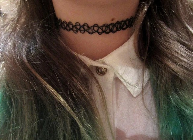 Black Is Back Vintage 90 S Tattoo Choker Stretch Ideas And Designs