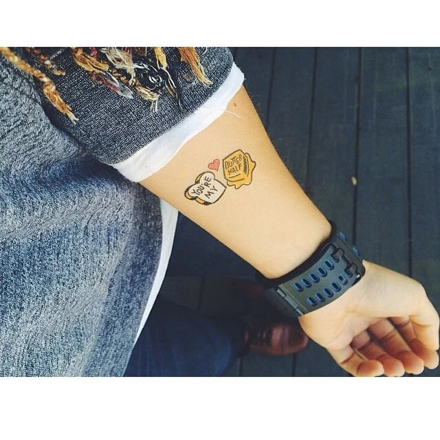 You Re My Butter Half Temporary Tattoos Temporary Tattoo Ideas And Designs