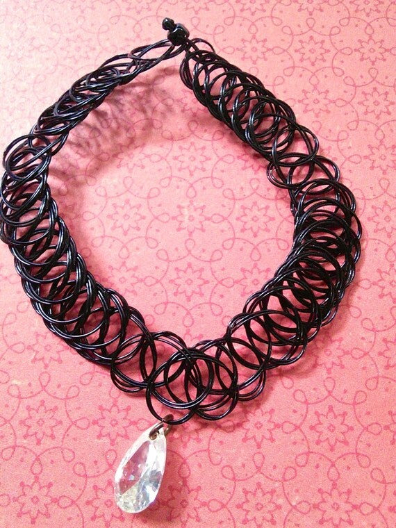 Black Tattoo Plastic Choker 90 S Necklace With By Luseatatts Ideas And Designs