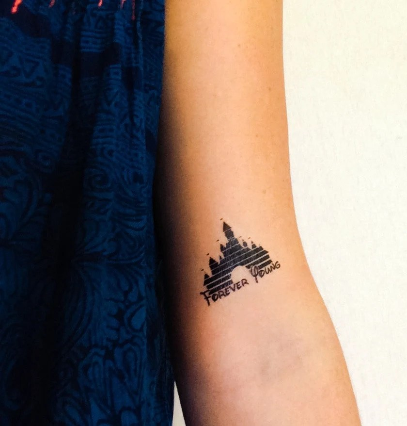 2 Disney Castle Temporary Tattoos Geektat Ideas And Designs