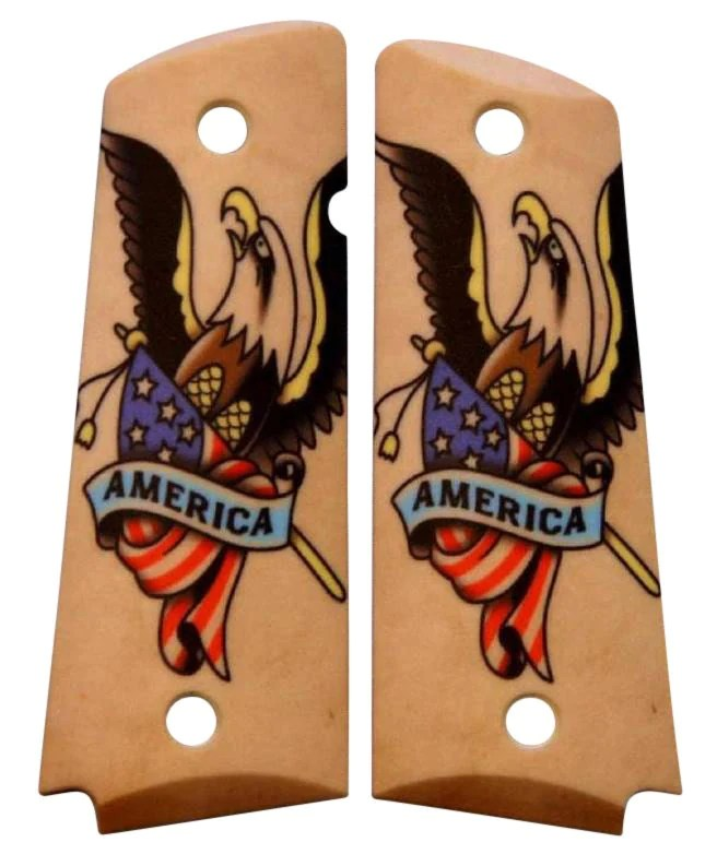 American Tattoo Custom Full Size 1911 Grips Ideas And Designs