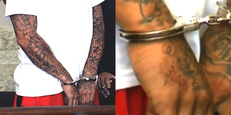 Aaron Hernandez Has 'Blood' Tattoo Revealed In The Courtroom Media Anarchist Ideas And Designs