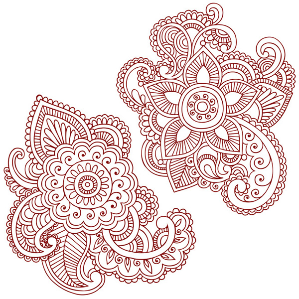 Henna Doodles Vector Designs On Behance Ideas And Designs