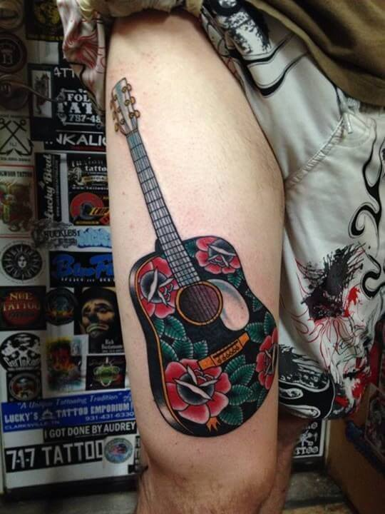 27 Guitar Tattoos You'll Either Love Or H*T* Ideas And Designs