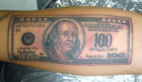 100 Bill Tattoo Fernando Casillas Flickr Ideas And Designs
