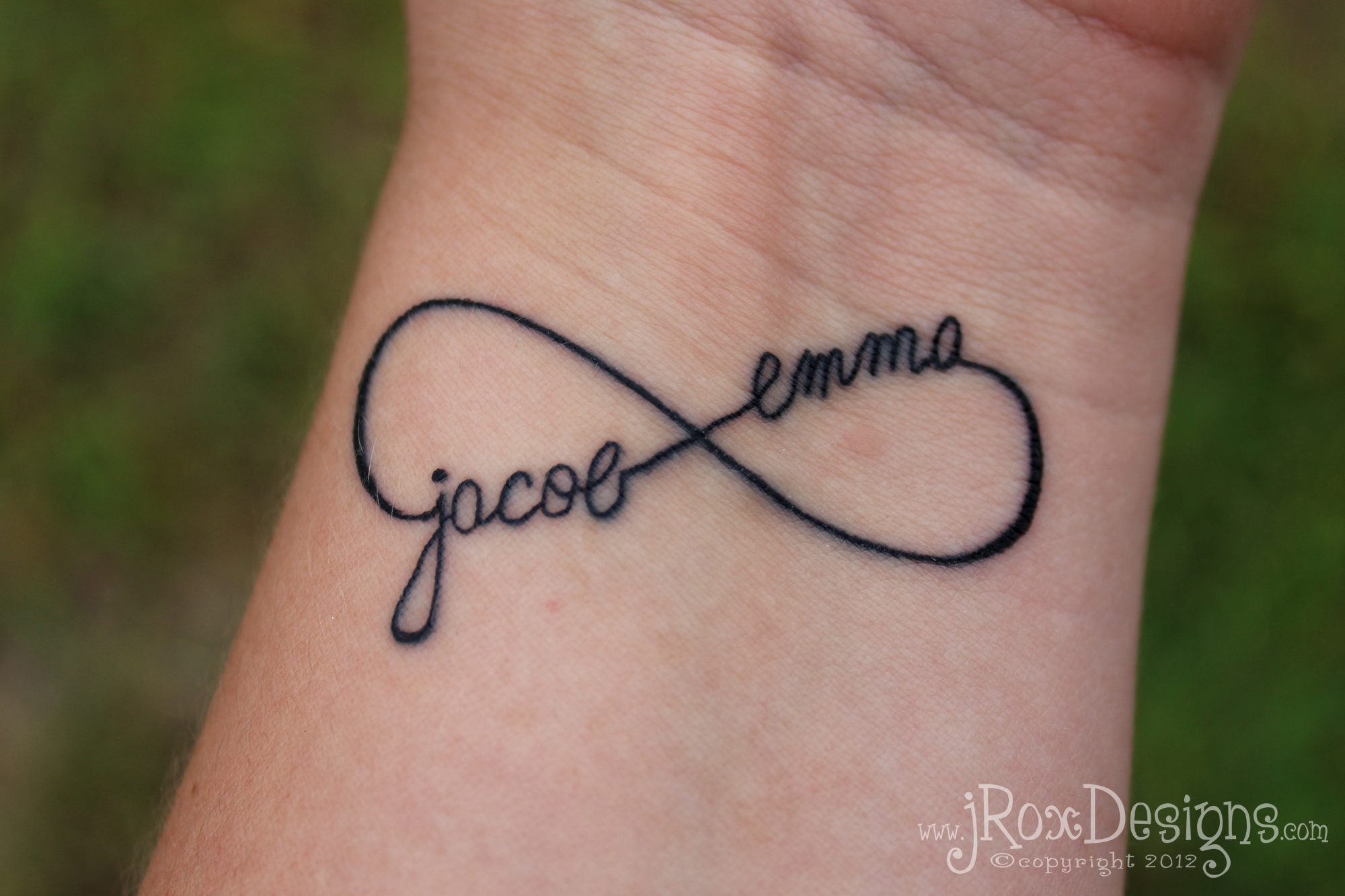 Kid's Names Infinity Tattoo Jroxdesigns Ideas And Designs