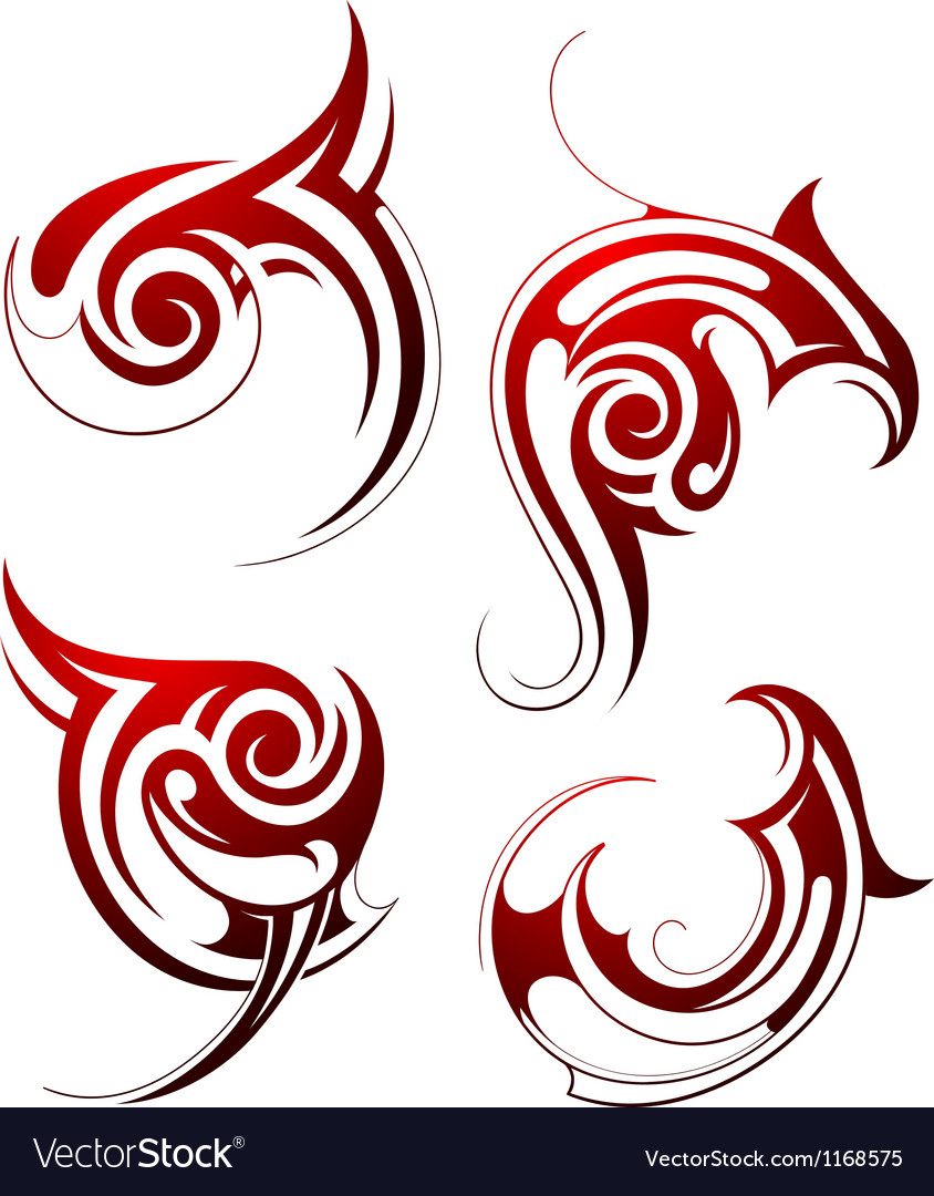 Abstract Tribal Tattoo Design Royalty Free Vector Image Ideas And Designs