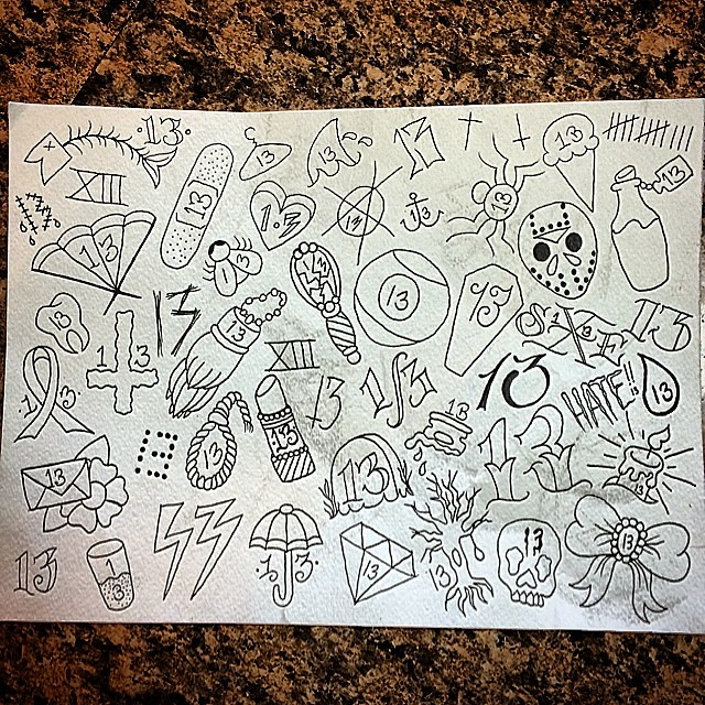 Friday The 13Th Special 13 Tattoos Lucky 7 Dollars Minim Ideas And Designs