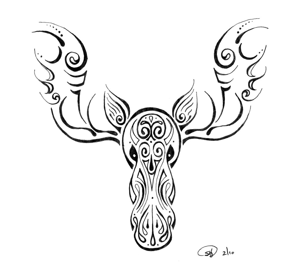 Moose Tattoo A Friend Of Mine Is Leaving Alaska And Ideas And Designs