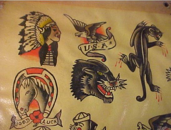 1950S Sheet 2 Vintage Tattoo Flash Flickr Ideas And Designs