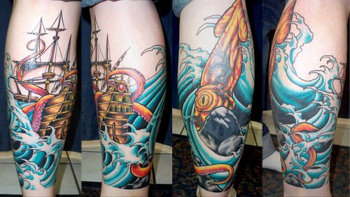 Ship And Octopus Tattoo Adornbodyart Com Custom Tattoos Ideas And Designs