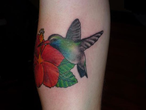 Hibiscus And Hummingbird Tattoo This Tattoo Was Done By Ideas And Designs