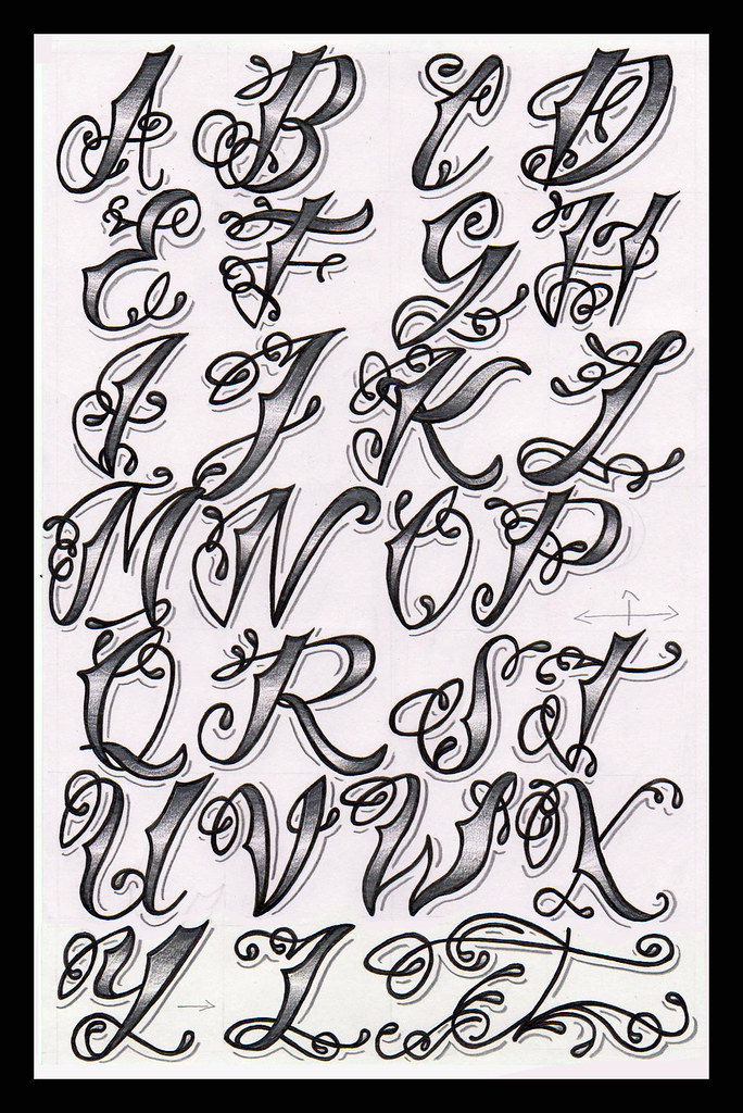 Cholo Tattoo Alphabet As Someone Who Is Interested In Ideas And Designs