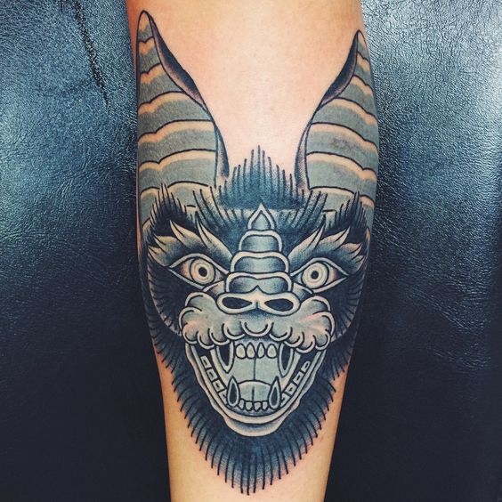 Traditional Bat Done By Jakob Ristau Big 'O' Tattoo In Ideas And Designs
