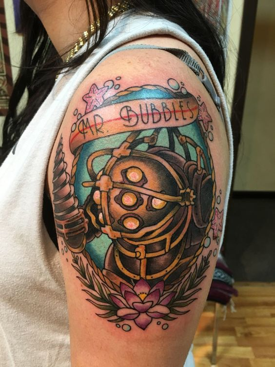 Bioshock Tribute Big Daddy Tattoo This Is Amaaaazing Ideas And Designs
