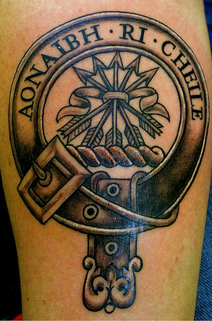 Cameron Clan Crest Not Too Shabby Tattoos Piercings Ideas And Designs