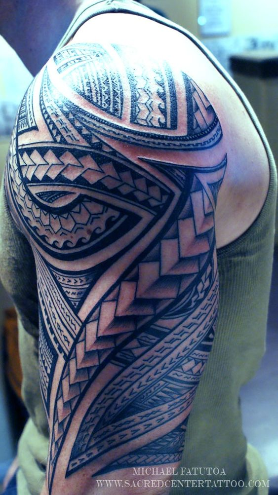 Tattoo On Shoulder Tribal Tattoos And Art On Pinterest Ideas And Designs