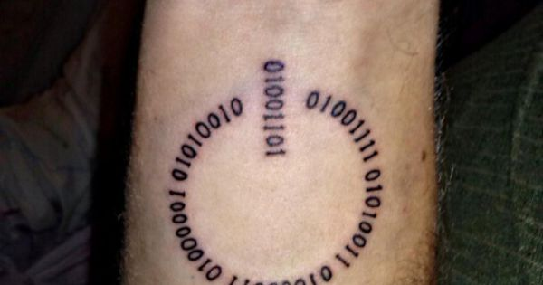My Third Tattoo… Its My Name In Binary Code Tattoos Ideas And Designs