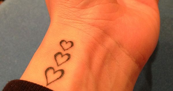 Hearts Tattoos On Wrist Tiny Love Hearts Tattoo On Ideas And Designs
