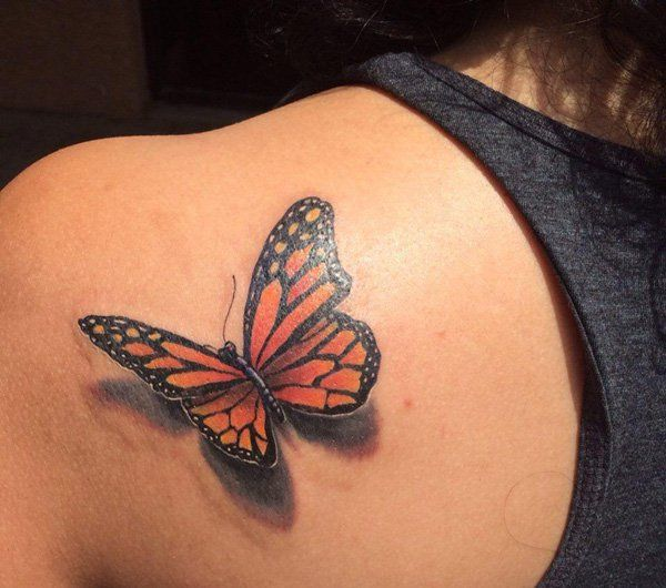 25 Best Ideas About 3D Butterfly Tattoo On Pinterest Ideas And Designs