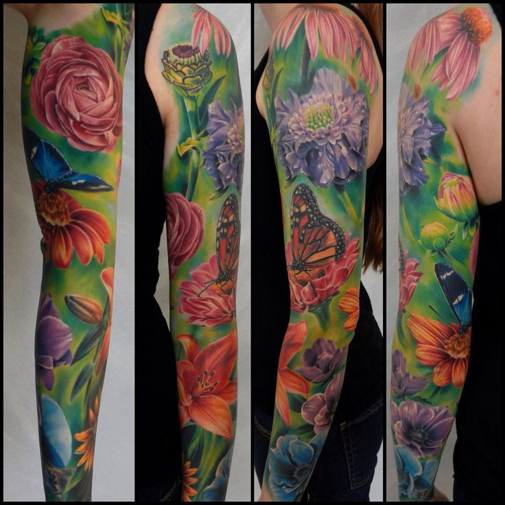17 Best Images About Sleeve Tattoos On Pinterest Floral Ideas And Designs