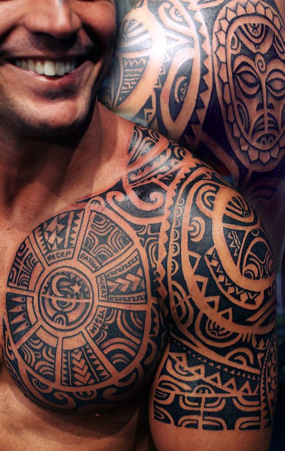 25 Best Ideas About Men Tribal Tattoos On Pinterest Ideas And Designs