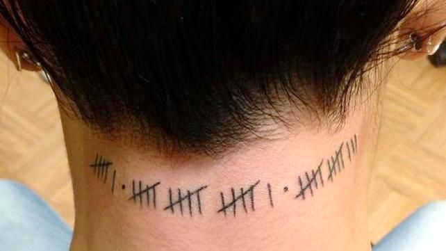 6 16 13 Tally Mark Date Tattoo Any Date Thats Ideas And Designs