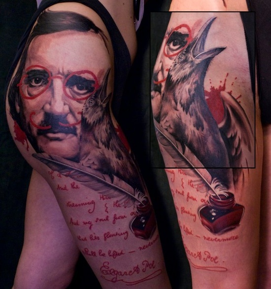 25 Best Ideas About Poe Tattoo On Pinterest Edgar Allan Ideas And Designs