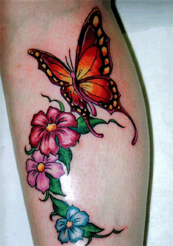 50 Butterfly Tattoos With Flowers For Women For Women Ideas And Designs
