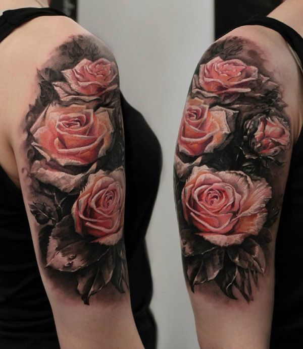 17 Best Ideas About 3D Rose Tattoo On Pinterest Ideas And Designs