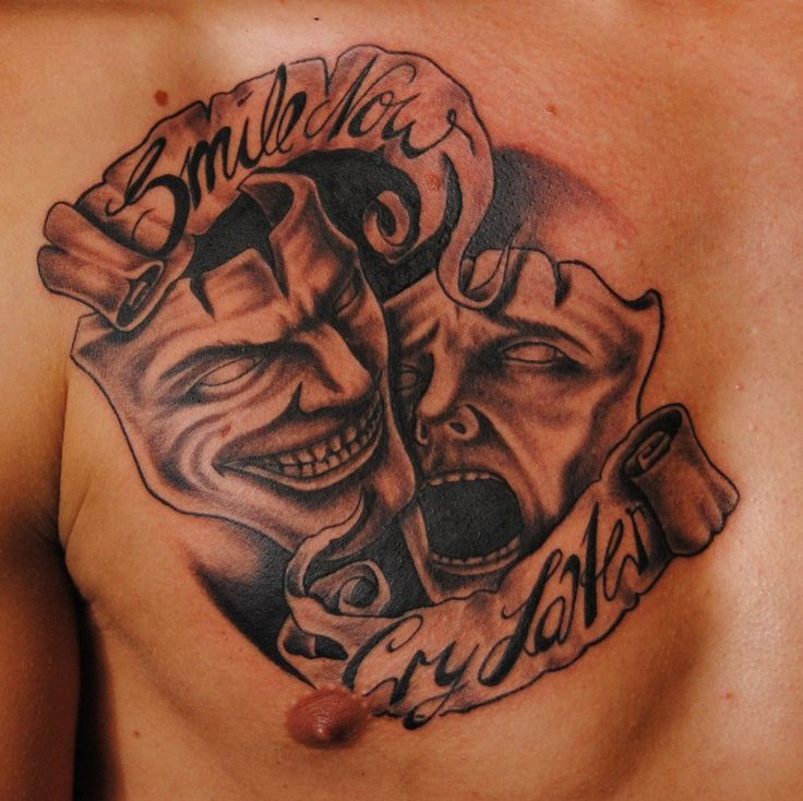 Smile And Cry Mask Of Theather Tattoo Tattoo Pinterest Ideas And Designs