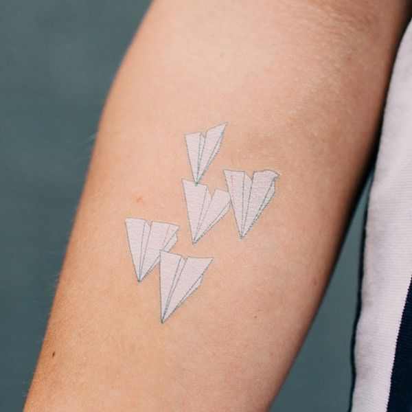 Top 25 Best Paper Airplane Tattoos Ideas On Pinterest Ideas And Designs