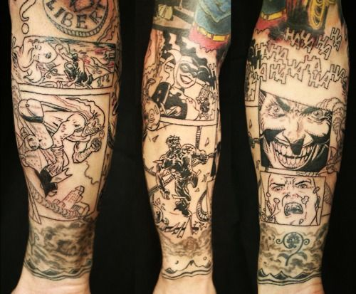 303 Best Comic Book Tattoos For Men Images On Pinterest Ideas And Designs