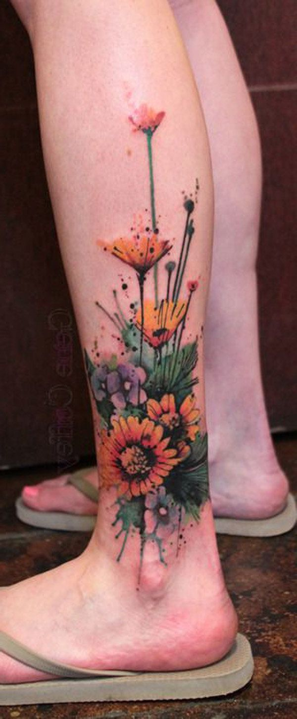 25 Best Ideas About Calf Tattoo Women On Pinterest Ideas And Designs