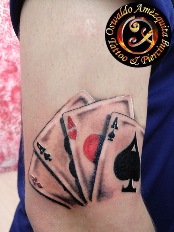 Poker Aces Tattoo Colour Best Gallery Tattoo I Ideas And Designs