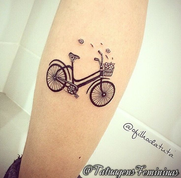 25 Best Bicycle Tattoo Ideas On Pinterest Bike Tattoos Ideas And Designs