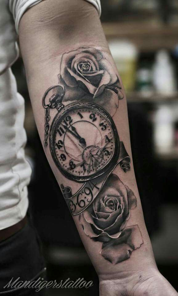 25 Best Ideas About Clock Tattoos On Pinterest Time Ideas And Designs
