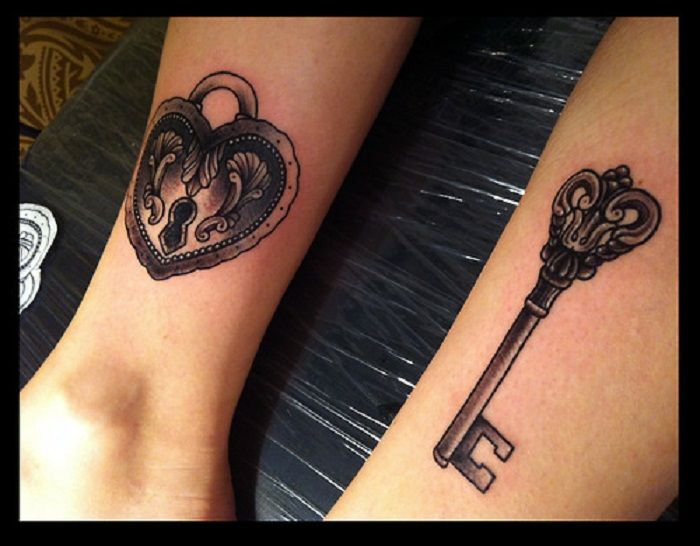 Lock And Key Couple Tattoo Tatoo Pinterest Couples Ideas And Designs