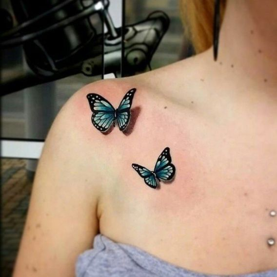 25 Best Ideas About 3D Butterfly Tattoo On Pinterest 3D Ideas And Designs