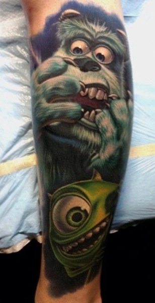 My Favorite Pixar Film Monsters Inc Tattoo Awesome Ideas And Designs
