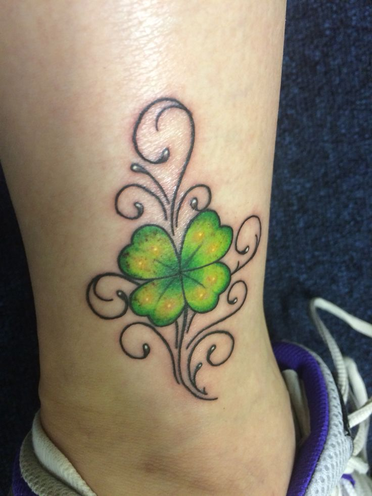 25 Best Ideas About Four Leaf Tattoos On Pinterest Four Ideas And Designs