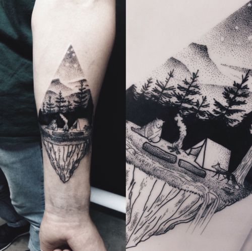 1000 Ideas About Camping Tattoo On Pinterest Ideas And Designs