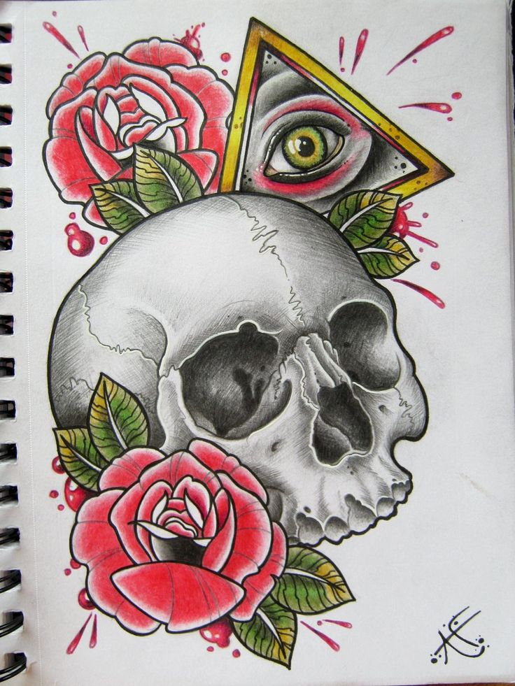 All Seeing Skull By Frosttattoo Deviantart Com On Ideas And Designs