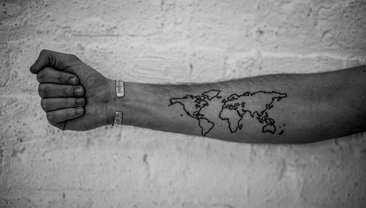 Continents Tattoo Love It Ink My Whole Body Pinterest Ideas And Designs