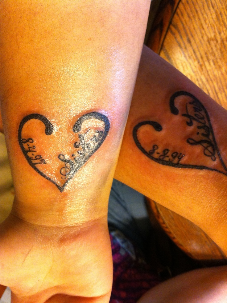 Me And My Sister Got Matching Tattoos Ideas And Designs