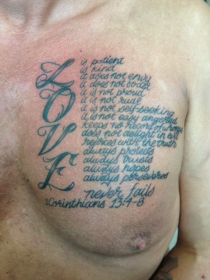 1St Corinthians 13 4 8 Tattoos Pinterest 1St Ideas And Designs