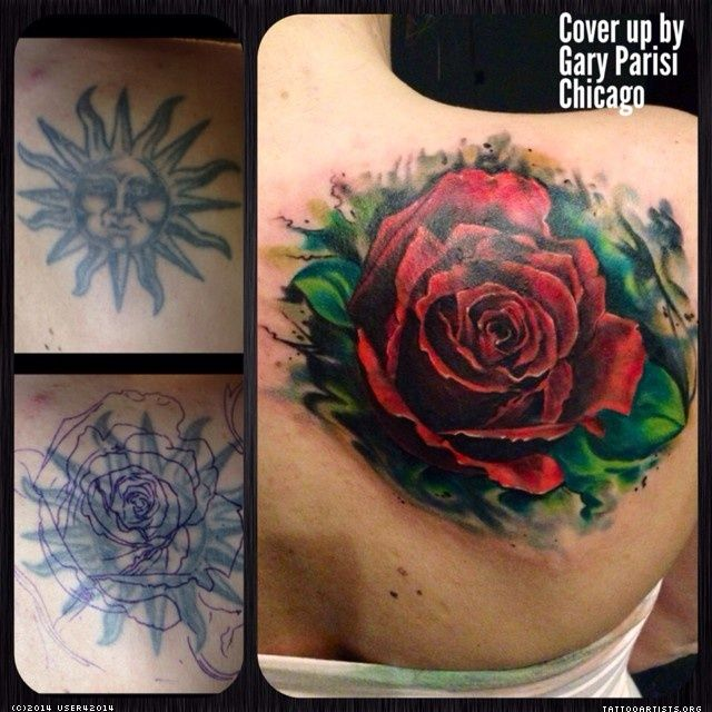 Big Red Rose Cover Up Tattoo Ideas Pinterest Cover Ideas And Designs