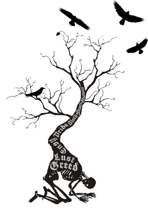 Seven Deadly Sins Tattoos Pinterest Trees The O Ideas And Designs