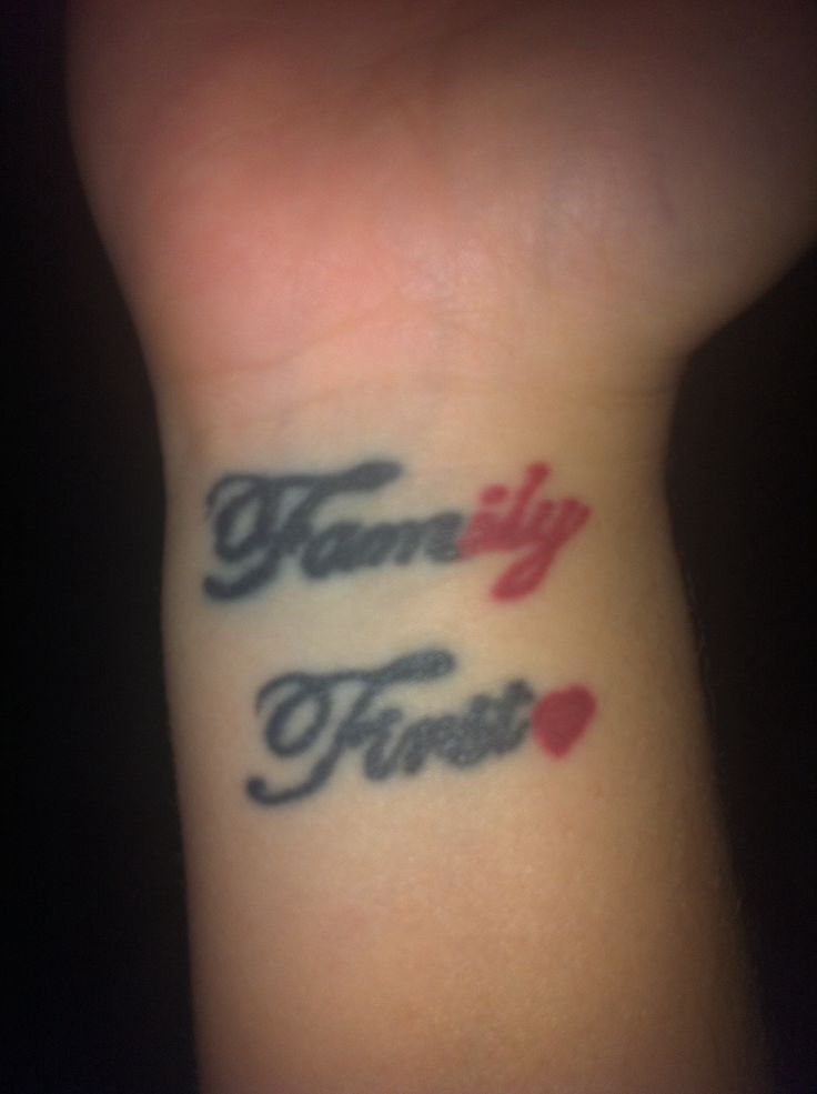 Family First Tattoo Heart Ily Tattoos Pinterest Ideas And Designs